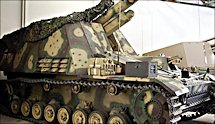 Surviving early production German Hummel self propelled artillery gun of WW2