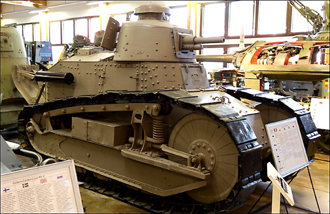 Restored Finnish Army Renault FT Tank