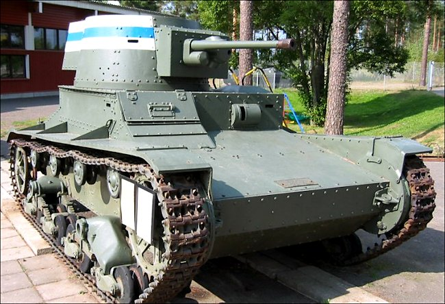 Restored Vickers-Armstrong Mark E 6-ton tank