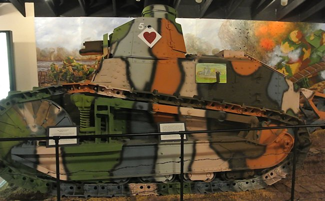 Surviving US Army Tank Corps WW1 Renault FT light tank