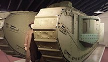 Surviving WW1 American Army Mark VIII International Tank at Fort George Meade