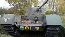 Surviving Battle of the D-Day 1944 Churchill Mk VII tank in Le Harve France
