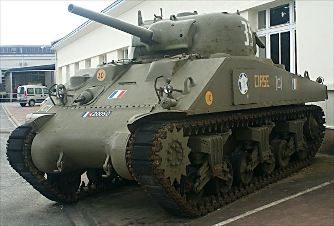 Surviving Sherman M4A2 British Medium Tank