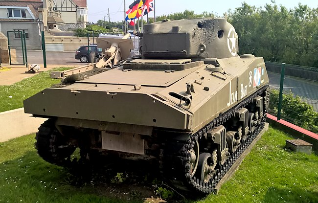 Surviving Free French Sherman M4A4 Medium Tank