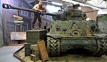 Surviving US WW2 Sherman Tank M4A2E8 76mm used in the film Fury