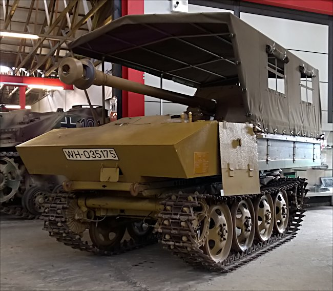 Preserved WW2 Raupenschlepper Ost RSO Pak 40 Tank Destroyer at the German Tank Museum in Munster