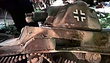 Surviving Battle of the D-Day 1944 Renault R35 tank in Saint-mere-Eglise France