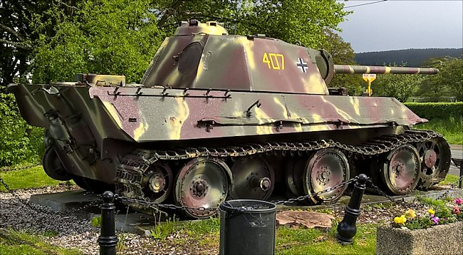 Surviving german ss panther tank ausf g in grandmenil belgium ardennes surviving german panzer v panther tank in the village of grandmenil belgium ardennes publicscrutiny Gallery