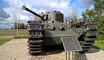 Surviving Battle of the D-Day 1944 British Churchill tank at hill 112 in France