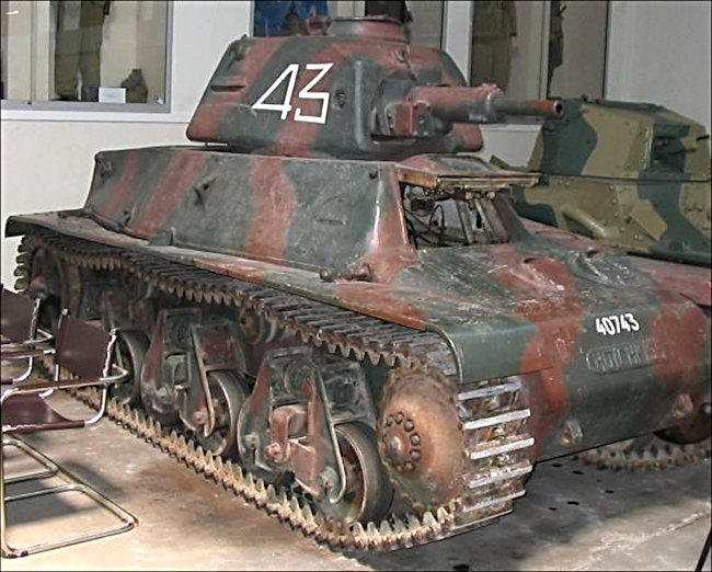 Surviving Hotchkiss H39 French Tank used in 1940 Battle of France