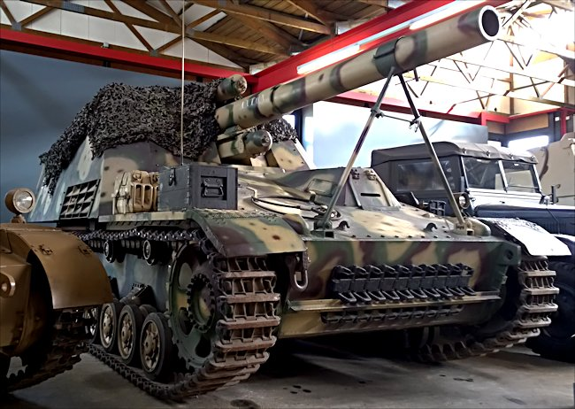 Surviving German Hummel self propelled artillery gun of WW2