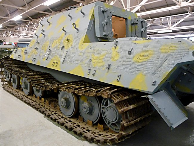 Surviving German Jagdtiger Tank Destroyer was coated with Zimmerit anti-magnetic mine paste