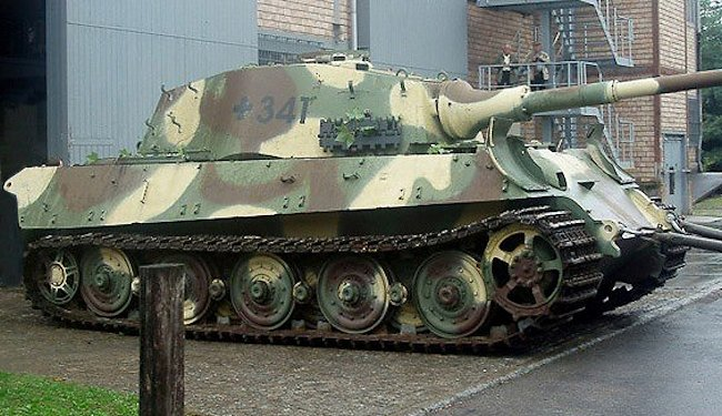 Surviving German King Tiger Ii Ausf B Heavy Tank Being Restored At