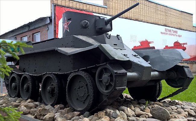 Restored Soviet WW2 BT-5 fast Tank