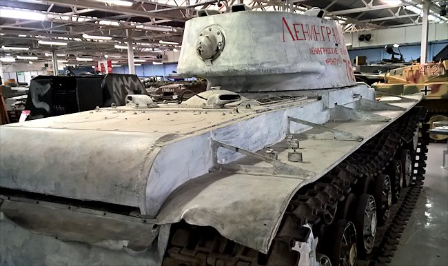 Rear view of a surviving KV-1 Heavy Tank