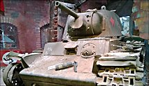 Surviving Russian Soviet WW2 KV1 Heavy Tank in France