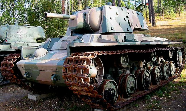 Surviving Red Army WW2 KV-1E Heavy Tank
