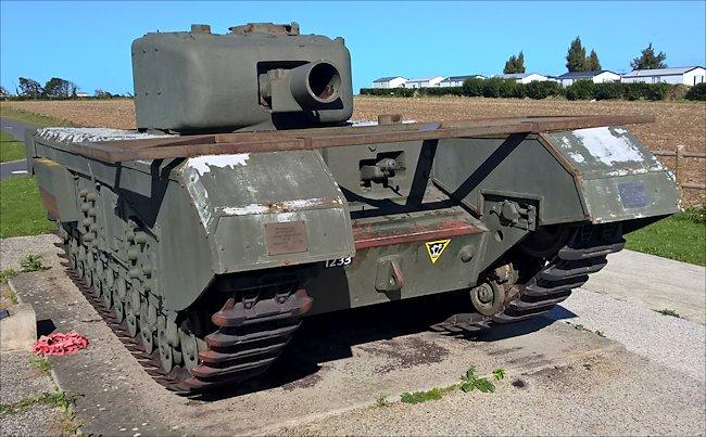 Churchill Mk IV AVRE Tank at Lion-Sur-Mer Sword Beach D-Day