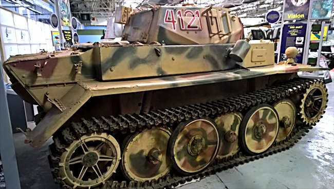 Side view of a surviving German Panzer II Luchs tank