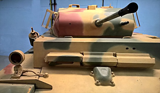Surviving German Panzer II Luchs tank turret with 20mm cannon and a coaxial machine gun