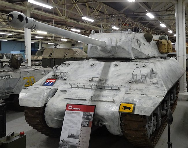 Surviving British WW2 M10 Achilles 17pdr Tank Destroyers can be found at the Tank Munster Bovington Dorset England