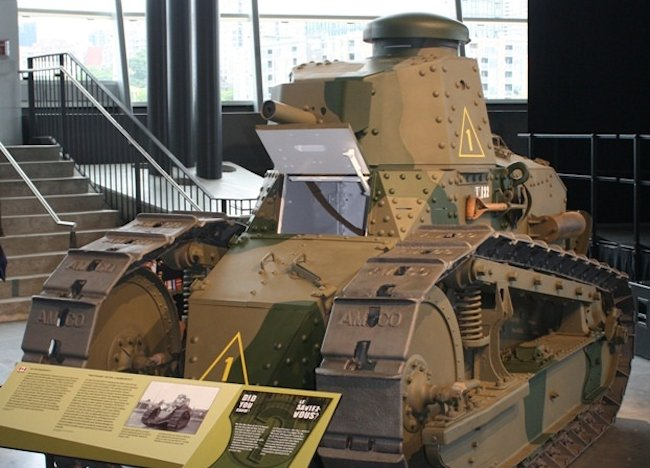 Surviving M1917 6-ton light tank Canadian War Museum, Ottawa, Canada
