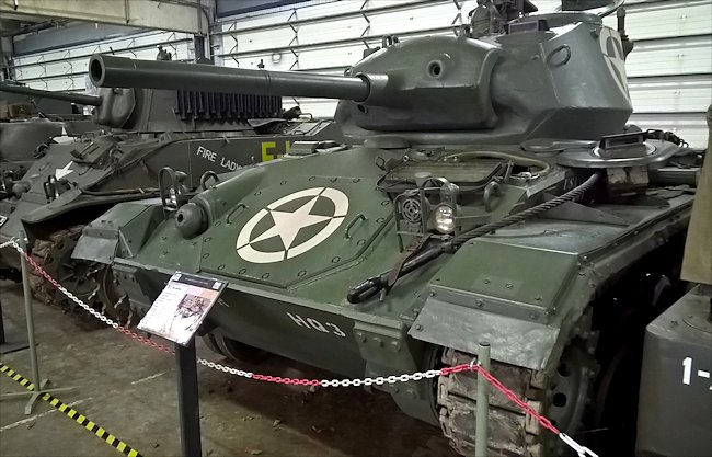 M24 Chaffee Light Tanks saw action in the WW2 Battle of the Bulge
