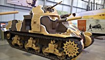 Surviving British M3 Grant Medium Tank at Bovington