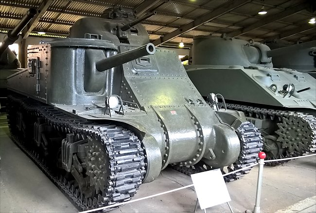 Preserved Lend-Lease M3 Lee Tank in the Kubinka Tank Museum Russia