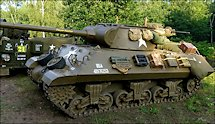 Surviving Battle of the D-Day 1944 M36 Jackson tank in Normandy Tank Museum Catz France