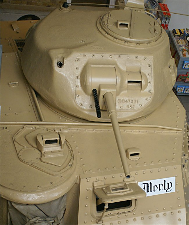 Top view of Field Marshal Montgomery's M3A5 Grant II Medium Tank