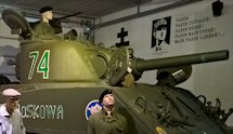 Surviving Battle of the D-Day 1944 French M4 Sherman tank in Normandy Tank Museum Catz France