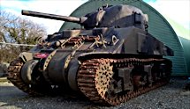 Surviving British WW2 Sherman M4A4 Tank used in the film Fury