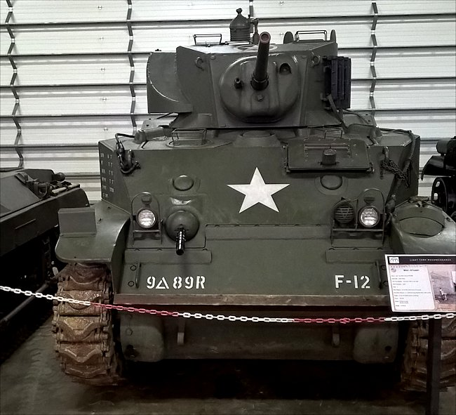 M5A1 Light Tank saw action in the WW2 Battle of the Bulge