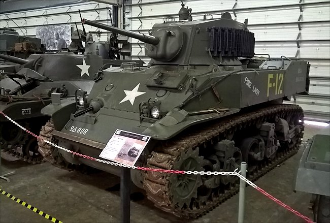 M5A1 Stuart Light Tanks saw action in the WW2 Battle of the Bulge