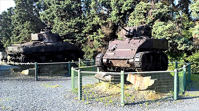 Surviving M5A1 Stuart Light Tank Port-en-Bessin