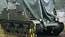 Surviving M7B2 Priest Self Propelled Gun 105 mm Howitzer Motor Carriage