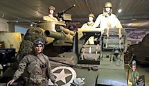 Surviving Battle of the D-Day 1944 M7B1 Priest tank in Normandy Tank Museum Catz France