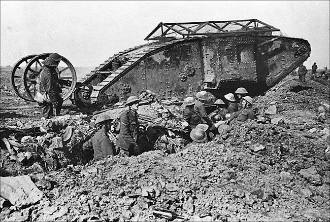 WW1 British Mark 1 Male Tank 1916