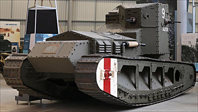 Surviving British Mark A Whippet tank