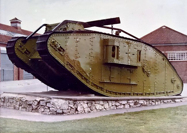 Surviving WW1 British Mark IV Female Tank Bovington Tank Museum