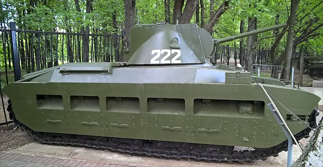 Restored Matilda II MkIII CS Close Support Tank in the Central Armed Forces Museum in Moscow