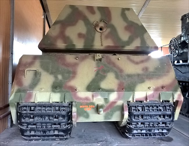 Rear view of the only surviving German Maus Super Heavy WW2 Tank Panzerkampfwagn VIII