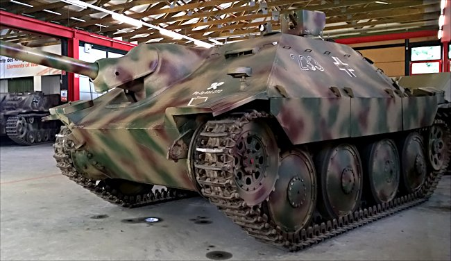 Surviving German Hetzer Jagdpanzer 38t Tank Destroyer