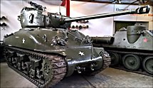 Surviving US WW2 Sherman M4A1 Tank with a 76mm gun at the German Tank Museum