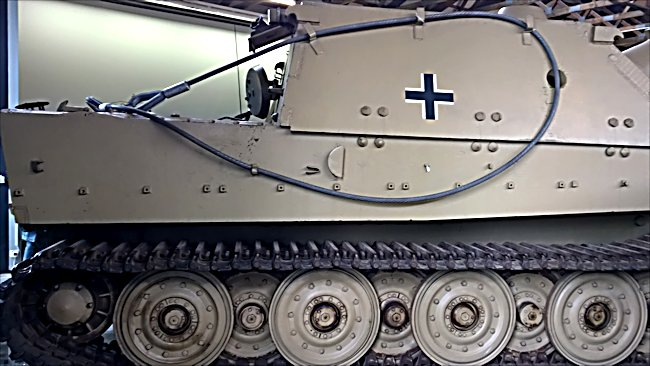 Surviving German Sturmtiger infantry support self propelled mortar gun at the German Tank Museum