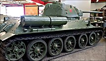 Surviving T34/76 Russian Soviet WW2 Medium Tank can be found in the German Tank Museum