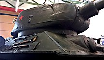 Surviving T34/85 Russian Soviet WW2 Medium Tank can be found in the German Tank Museum