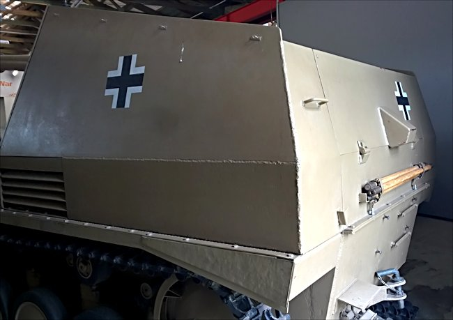Surviving German Wespe self propelled artillery gun of WW2 can be seen at the Deutsches Panzermuseum in the small military town of Munster, Germany.