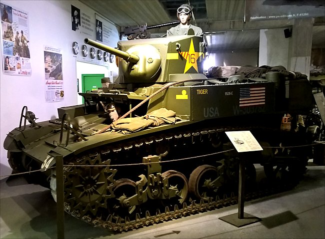 Surviving M3A1 Stuart Light Tank used in Normandy